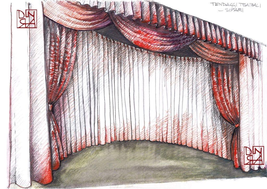 bozzetto tendaggi teatrali - sipari